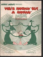You'r Nothin But a Nothin 1934 Disney Silly Symphony Flying Mouse Sheet Music