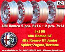 Cerchi Alfa Romeo 2 pcs. 6x14 + 2pcs 7x14 GT GTA Spider Wheels Felgen jantes TUV