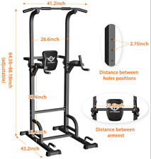 Citybirds Power Tower Dip Station Pull up Bar for Home Gym