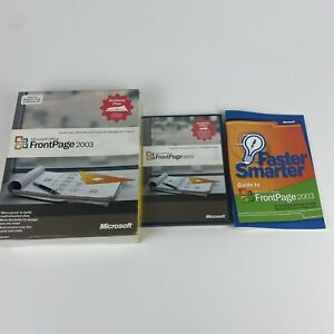 Microsoft Office FrontPage 2003 for Windows Full Version w/Product Key VGC
