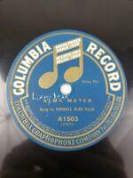 """Cornell Glee Club - Alma Mater / Cornell Columbia Record A1503 78 RPM 10"""" Single"""