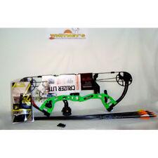 Fred Bear Archery Cruzer LITE Green Bow RH Package w/ Arrows,Target Pts, Release