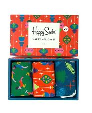 Happy Socks Christmas Socks - Pack Of 3 - RRP £30 - New