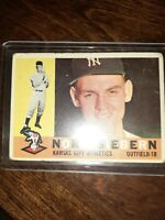 1960 Topps Norm Siebern Kansas City Athletics #11 vintage BASEBALL card