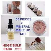 50 PC SET x MINERAL MAKE UP FOUNDATION FACE COLOUR BRUSH CONTOUR MAKEUP SET