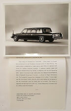 1983 Cadillac Presidential Limousine Press Photo Ronald Reagan Secret Service