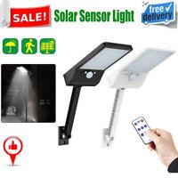 48LED Solar PIR Motion Sensor Wall Light Outdoor Yard Street Lamp+Remote Control