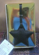MICHAEL KORS STAR CHARM~KEY FOB~BLACK LEATHER~GIFT BOX~NEW WITH TAGS~
