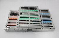 3 Pcs Dental Sterilization Cassette Rack Tray Case for 10 Surgical Instruments