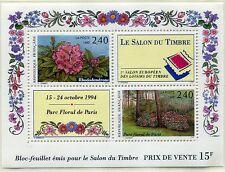FRANCE TIMBRE NEUF  BLOC   N°15  **  PARC FLORAL DE PARIS RHODODENDRONS