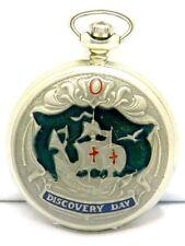 Molnija Taschenuhr pocket watch 3602 Christopher Columbus Discovery Day