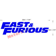 Blue Color JDM Fast And Furious HF Vinyl Auto Moto Car Decorate Sticker Decal x1