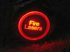 19mm RED LED Fire Lasers ON / OFF 12V Metal Push Button Lighted Switch