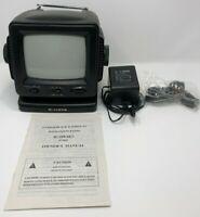 "Curtis 5"" Portable Black & White TV With AM FM Radio RT068 In Original Box"