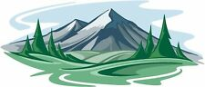 Mountainscape decal Camper RV motor home mural graphic size Large
