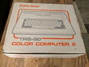 Radio Shack TRS-80 Color Computer 2 16k complete in box with styrofoam AMAZING!