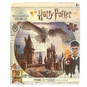 Harry Potter Prime 3D Image PuzzleHogwarts CastleFlying 500 Pieces NIB