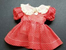 """Arranbee Original Red And White Polka Dot Doll Dress~Lace Collar~ Fits 14"""" Doll"""