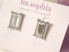 Beautiful Lia Sophia FAIREST OF THEM ALL Earrings, Cut Crystals, NWT