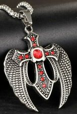 Christian Angel Wings Cross Necklace w/Chain