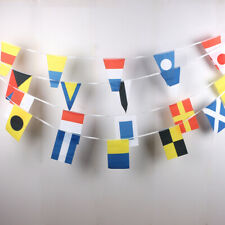 COLOURFUL BANNER SAILING BOATS SHIPS SEASIDE - NAUTICAL BUNTING 12.7M 40 FLAGS