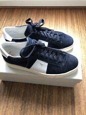 Santoni Italy Navy Suede Blue Sneakers Size 40,5 - 6,5 UK - 7,5 US
