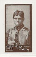 1894 N302 Mayo Cut Plug Football Reprint - Edgar Wrightington - Harvard Crimson