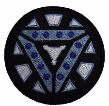 """Marvel's Iron Man Arc Reactor 3 1/2"""" Logo Iron-on/Sew-on Embroidered PATCH"""