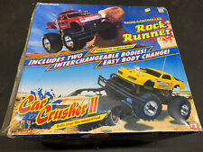 Vintage Radio Shack Rock Runner Car Crusher Ii Rc Truck Twin Top With Remote Box