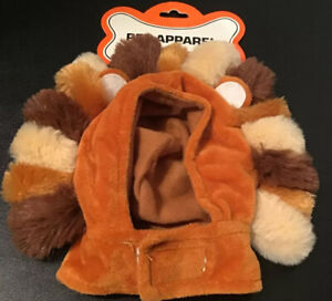 Cute Halloween Pet Cat or Small Dog Wig Lion Hat Headwear Costume Mane