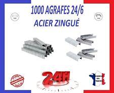 ⭐ 1000 AGRAFES BUREAU 24/6 ACIER ZINGUÉ + FACTURE ⭐ PRIX PROMO ⭐