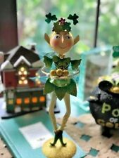 St. Patrick's Day Pier 1 Celtic Fairy Glittered Metal Sculpture Figurine NWT