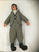 Vtg David Larible Clown Figuring In Black And White Houndstooth Suit (Circus)