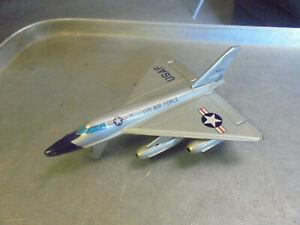 Vintage USAF Fighter Jet 4910 Linemar Toys Japan Tin Jet Friction