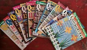Lot of 11 QUILTMAKER Quilting Quilt Magazines 2001 - 2003
