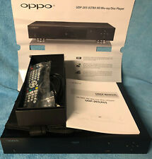 Oppo UDP-203 Universal Player UHD 4K Blu Ray Player DVD Remot Manual AS NEW SACD
