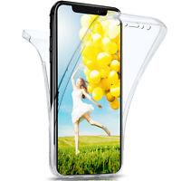 360 Grad Komplett Schutz Hülle für Apple iPhone Xs Max Silikon Case Clear Dünn