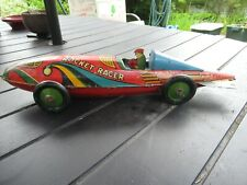 "VINTAGE MARX ROCKET RACER 16"" LONG TIN WIND UP CAR"