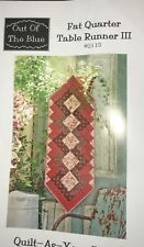 Fat Quarter III Table Runner Quilt, Sew, FABRIC KIT  #2 Red Rooster & others
