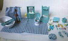 Calico Critters Vintage Blue Bathroom Set Sylvanian Families