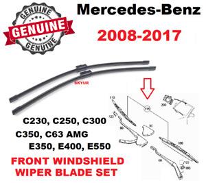 Mercedes Windshield Wiper Blade Set C230 C250 C300 C350 C63AMG E350 E400 E550