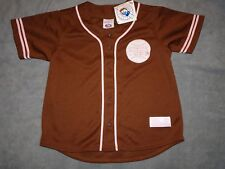 GIRLS CHICAGO CUBS AUTHENTIC JERSEY YXL CUPCAKE BROWN/PINK  BLOWOUT