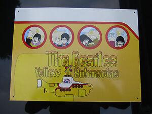 BEATLES YELLOW SUBMARINE METAL PLAQUE subafilms 2004