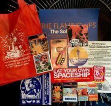 FLAMING LIPS Promo Collection Tote Stickers Lazer Light Popcorn Box