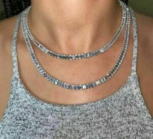 Princess Baguette Cubic Zirconia Tennis Bling Chain Choker Necklace For Women