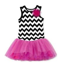 "NEW ""Chevron Tulle"" PINK Tutu Dress Girls 4 Spring Summer Clothes Kids Party"