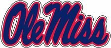 OLE MISS Rebels Large Navy Decal