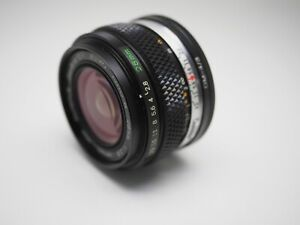 Rare OLYMPUS 28mm f2.8 Zuiko Auto-W OM-Systems Mount Lens Beautiful Condition