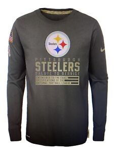 Pittsburgh Steelers Nike Youth Salute to Service Black Long Sleeve Shirt ~ NWT