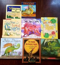 Lot of 8 Children's Picture Books about DRAGONS Puff the Magic Jack Prelutsky